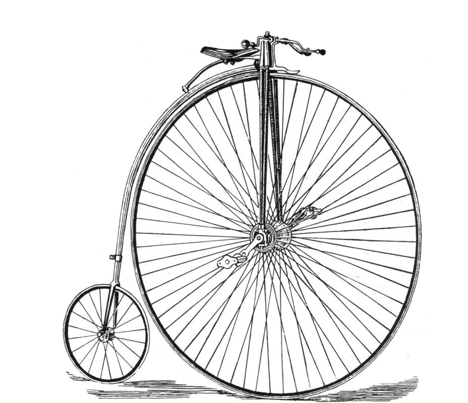 Click to get the codes for this image. Vintage Bicycle Drawing, Sports and Athletics Background, wallpaper or texture for any blog, web page, phone or desktop