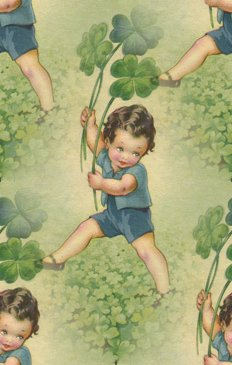 Click to get the codes for this image. Vintage Boy With Shamrocks, Saint Patrick's Day Background, wallpaper or texture for Blogger, Wordpress, or any phone, desktop or blog.
