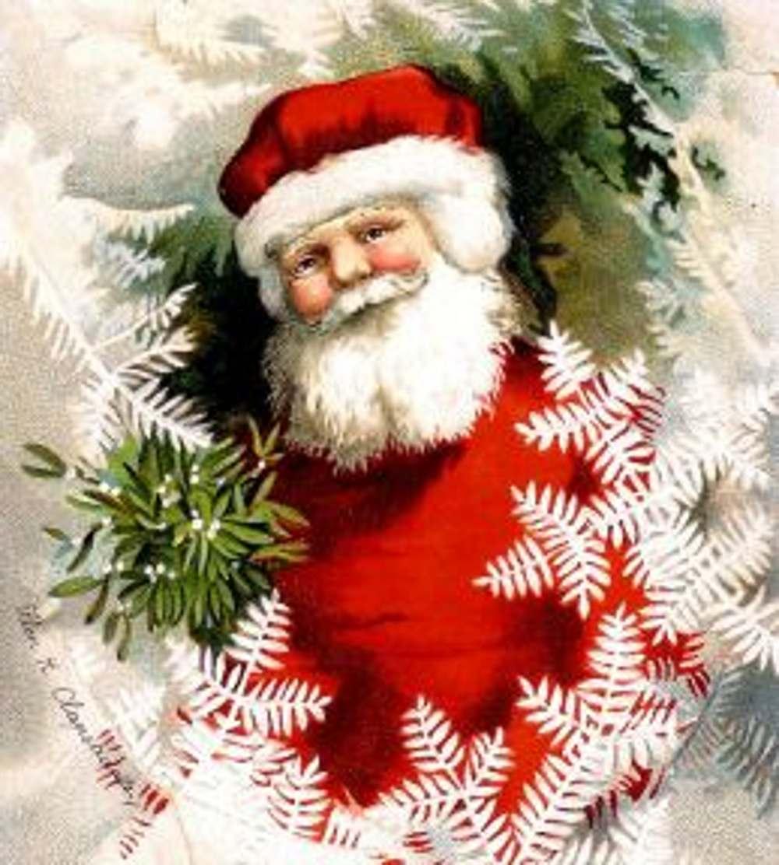 Vintage Santa Full Screen