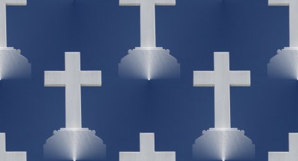 Click to get the codes for this image. White Crosses On Blue Background, Christian Background, wallpaper or texture for, Blogger, Wordpress, or any web page, blog, desktop or phone.