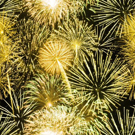 Click to get the codes for this image. Yellow Fireworks Tiled Background, Fourth of July, Holidays  New Years,  New Backgrounds, Fireworks, Colors  Yellow and Gold Background, wallpaper or texture for, Blogger, Wordpress, or any web page, blog, desktop or phone.