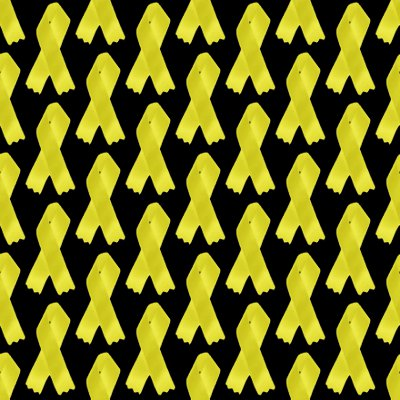 Click to get the codes for this image. Yellow Ribbons Seamless Background On Black, Army Military  Camouflage, Ribbons and Bows, Colors  Yellow and Gold Background, wallpaper or texture for, Blogger, Wordpress, or any web page, blog, desktop or phone.