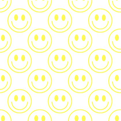 Click to get the codes for this image. Yellow Smiley Faces On White Background Seamless, Colors  Yellow and Gold, Smiley Faces Background, wallpaper or texture for Blogger, Wordpress, or any phone, desktop or blog.