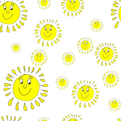Click to get the codes for this image. Yellow Smiley Suns Background Seamless, Smiley Faces, Colors  Yellow and Gold Background, wallpaper or texture for Blogger, Wordpress, or any phone, desktop or blog.