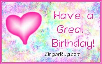Another HappyBirthday image: (have_a_great_birthday_pink_plaque) for MySpace from ZingerBug.com