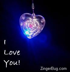 Click to get the codes for this image. I Love You Heart Pendant, Love and Romance, Hearts, I Love You Free Image, Glitter Graphic, Greeting or Meme for Facebook, Twitter or any blog.