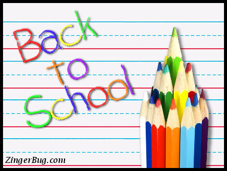 Click to get the codes for this image. Back To School Colored Pencils, Back To School Glitter Graphic, Comment, Meme, GIF or Greeting