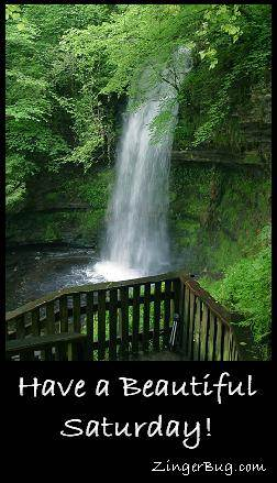 Click to get the codes for this image. Have a Beautiful Saturday Waterfall, Happy Saturday Free Image, Glitter Graphic, Greeting or Meme for Facebook, Twitter or any forum or blog.