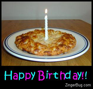 Click to get the codes for this image. Happy Birthday Pizza, Funny Birthday Greetings, Birthday Food not cake, Happy Birthday Graphic Comment and Codes for MySpace, Friendster, Orkut, Piczo, Xanga or any other website or blog.