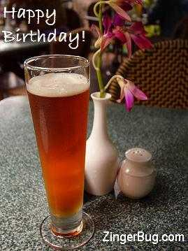 Click to get the codes for this image. Happy Birthday Beer Photo, Birthday Beer  Drinks, Happy Birthday Free Image, Glitter Graphic, Greeting or Meme for Facebook, Twitter or any forum or blog.