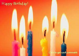 Click to get the codes for this image. Happy Birthday Candles Photo, Birthday Candles, Happy Birthday Free Image, Glitter Graphic, Greeting or Meme for Facebook, Twitter or any forum or blog.