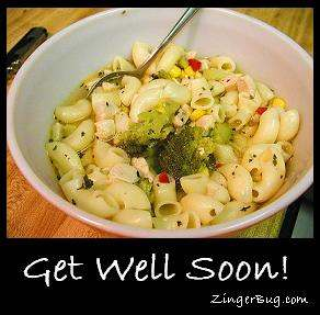 Click to get the codes for this image. Chicken Soup Get Well Soon, Get Well Soon Free Image, Glitter Graphic, Greeting or Meme for any Facebook, Twitter or any blog.