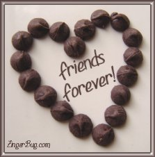 Click to get the codes for this image. Chocolate Heart Friends Forever, Friendship, Hearts Free Image, Glitter Graphic, Greeting or Meme for any Facebook, Twitter or any blog.