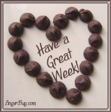 Click to get the codes for this image. Chocolate Heart Great Week, Have A Great Week, Hearts Free Image, Glitter Graphic, Greeting or Meme for any Facebook, Twitter or any blog.