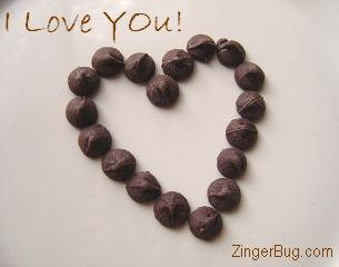 Click to get the codes for this image. Chocolate Heart Love, Love and Romance, Hearts Free Image, Glitter Graphic, Greeting or Meme for Facebook, Twitter or any blog.