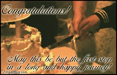 Click to get the codes for this image. Congratulations Wedding Cake, Weddings  Engagements, Congratulations Free Image, Glitter Graphic, Greeting or Meme for any Facebook, Twitter or any blog.