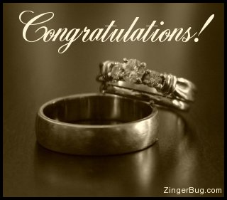 Click to get the codes for this image. Congratulations Wedding Rings, Weddings  Engagements, Congratulations Free Image, Glitter Graphic, Greeting or Meme for any Facebook, Twitter or any blog.