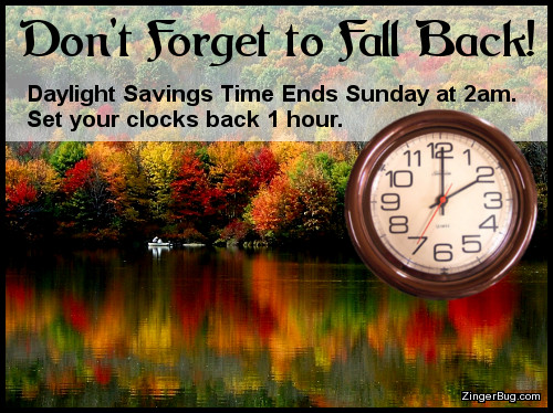 Click to get the codes for this image. Daylight Savings Time Fall Back Reminder, Daylight Savings Time Ends Glitter Graphic, Comment, Meme, GIF or Greeting