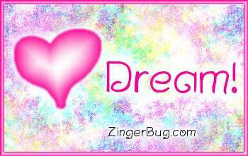 Click to get the codes for this image. Dream Pink Plaque, Dream, Hearts Free Image, Glitter Graphic, Greeting or Meme for Facebook, Twitter or any blog.