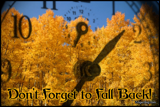 Click to get the codes for this image. Fall Back Aspen Trees Through Clock Window, Daylight Savings Time Ends Glitter Graphic, Comment, Meme, GIF or Greeting