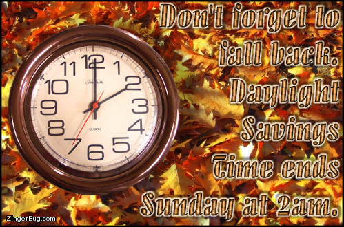 Click to get the codes for this image. Fall Back Daylight Savings Time Autumn Clock, Daylight Savings Time Ends Glitter Graphic, Comment, Meme, GIF or Greeting