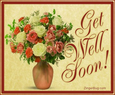 Click to get the codes for this image. Get Well Soon Bouquet On Parchment, Get Well Soon Glitter Graphic, Comment, Meme, GIF or Greeting