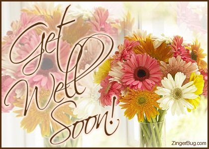Click to get the codes for this image. Get Well Soon Daisy Bouquet, Get Well Soon Free Image, Glitter Graphic, Greeting or Meme for any Facebook, Twitter or any blog.