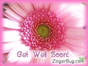 Click to get the codes for this image. Get Well Soon Pink Flower, Get Well Soon, Flowers Free Image, Glitter Graphic, Greeting or Meme for Facebook, Twitter or any blog.