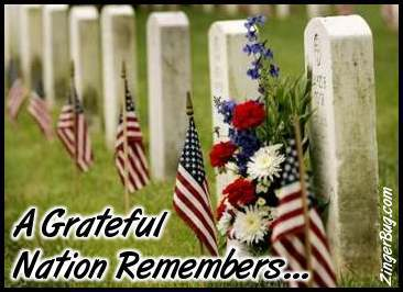 Click to get the codes for this image. A Grateful Nation Remembers Memorial Graphic, Patriotic, Sympathy  Memorial, Memorial Day, Veterans Day Free Image, Glitter Graphic, Greeting or Meme for Facebook, Twitter or any forum or blog.