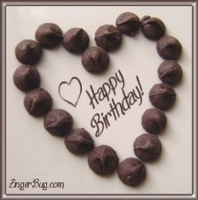Click to get the codes for this image. Happy Birthday Chocolate Heart, Birthday Hearts, Birthday Food not cake, Hearts, Happy Birthday Free Image, Glitter Graphic, Greeting or Meme for Facebook, Twitter or any forum or blog.