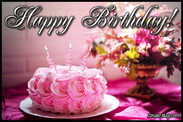 Click To Get The Codes For This Image Happy Birthday Flower Cake