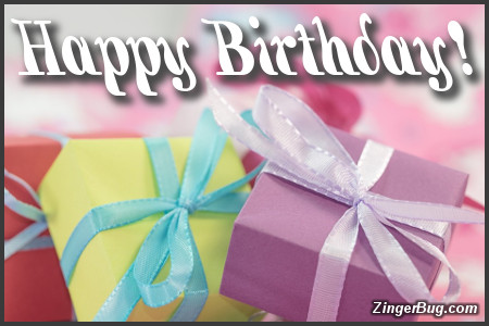 Click to get the codes for this image. Happy Birthday Mini Gifts, Happy Birthday, Happy Birthday, Birthday Presents Free Image, Glitter Graphic, Greeting or Meme for Facebook, Twitter or any forum or blog.