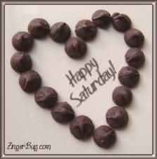 Click to get the codes for this image. Happy Saturday Chocolate Heart, Happy Saturday, Hearts Free Image, Glitter Graphic, Greeting or Meme for Facebook, Twitter or any forum or blog.