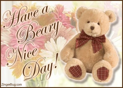 Click To Get The Codes For This Image Have A Beary Nice Day Teddy Bear