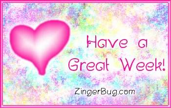 Click to get the codes for this image. Have A Great Week Pink Plaque, Have A Great Week, Hearts Free Image, Glitter Graphic, Greeting or Meme for any Facebook, Twitter or any blog.