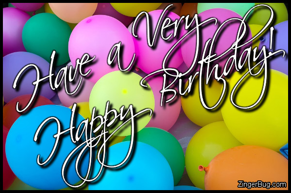 Click to get the codes for this image. Have A Very Happy Birthday Balloons, Happy Birthday, Happy Birthday, Birthday Balloons Free Image, Glitter Graphic, Greeting or Meme for Facebook, Twitter or any forum or blog.