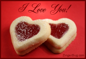 Click to get the codes for this image. I Love You Heart Cookies, Love and Romance, Hearts, I Love You Free Image, Glitter Graphic, Greeting or Meme for Facebook, Twitter or any blog.