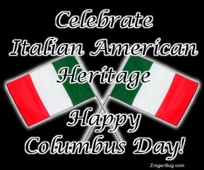 Click to get the codes for this image. Italian American Heritage Columbus Day, Columbus Day Free Image, Glitter Graphic, Greeting or Meme for Facebook, Twitter or any forum or blog.