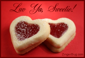 Click to get the codes for this image. Luv Ya Heart Cookies, Love and Romance, Hearts, Luv Ya Free Image, Glitter Graphic, Greeting or Meme for Facebook, Twitter or any blog.