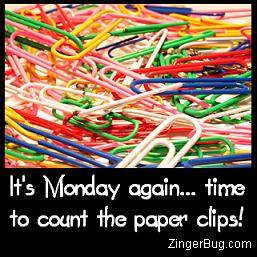 Click to get the codes for this image. It's Monday again... Time to count the paper clips!