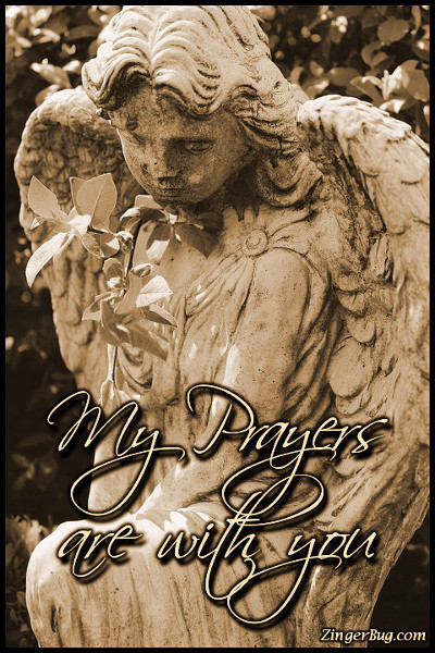 Click to get the codes for this image. My Prayers Are With You Angel, Sympathy  Memorial Glitter Graphic, Comment, Meme, GIF or Greeting