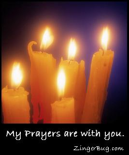 Click to get the codes for this image. My Prayers Are With You Candle, Sympathy  Memorial, Religious  Christian Free Image, Glitter Graphic, Greeting or Meme for any Facebook, Twitter or any blog.