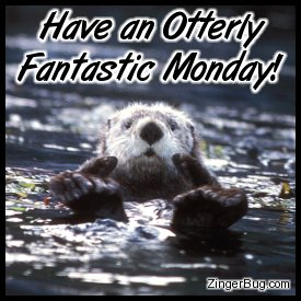 Click to get the codes for this image. This cute comment shows a funny sea otter with his paws sticking out of the water with both thumbs up. The comment reads: Have an Otterly Fantastic Monday!