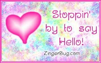 Click to get the codes for this image. Sayin Hello Pink Plaque, Hearts, Hi Hello Aloha Wassup etc Free Image, Glitter Graphic, Greeting or Meme for any Facebook, Twitter or any blog.