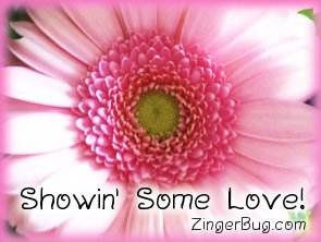 Click to get the codes for this image. Showin Some Love Pink Flower, Showin Some Love, Flowers Free Image, Glitter Graphic, Greeting or Meme for Facebook, Twitter or any blog.