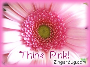 Click to get the codes for this image. Think Pink Pink Flower, Pink, Flowers Free Image, Glitter Graphic, Greeting or Meme for Facebook, Twitter or any blog.