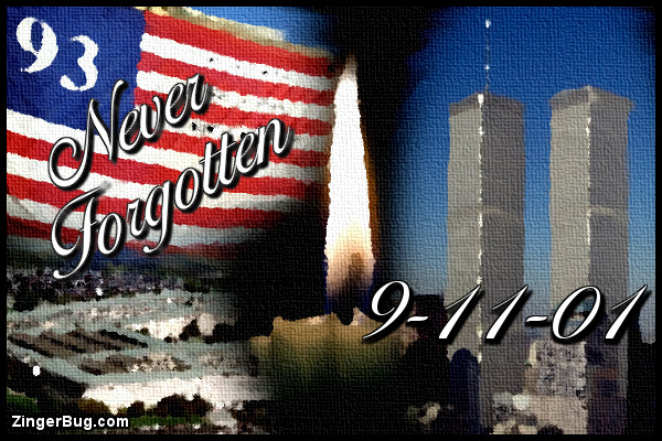 Click to get the codes for this image. 9-11-Never-Forgotten-Collage-Painting, Patriot Day  September 11th Free Image, Glitter Graphic, Greeting or Meme for Facebook, Twitter or any forum or blog.