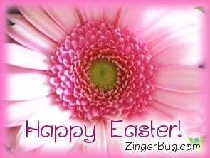 Click to get the codes for this image. Happy Easter Pink Flower, Easter Free Image, Glitter Graphic, Greeting or Meme for Facebook, Twitter or any forum or blog.