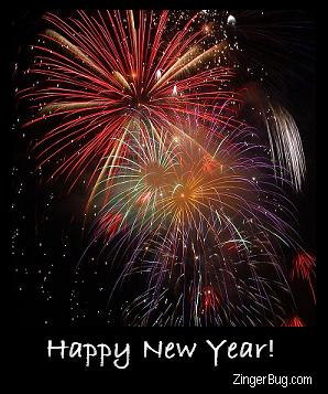 Click to get the codes for this image. Happy New Year Fireworks, New Years Day Free Image, Glitter Graphic, Greeting or Meme for Facebook, Twitter or any forum or blog.