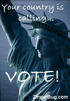 Click to get the codes for this image. Your Country is calling... VOTE!